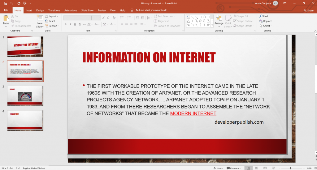 How to Add a hyperlink to a slide in PowerPoint ?