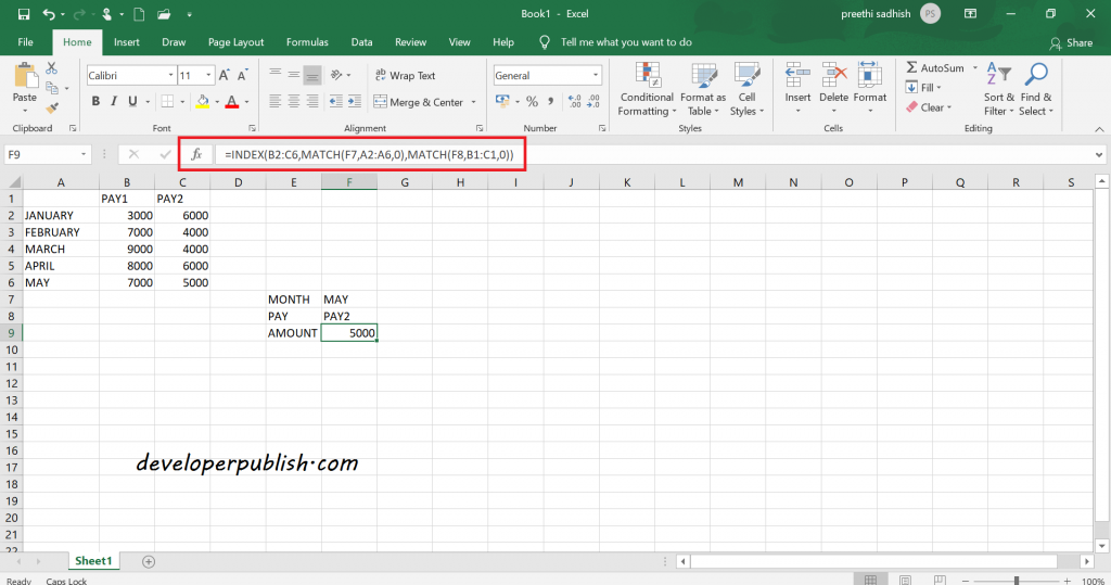 Two-way Lookup in Microsoft Excel