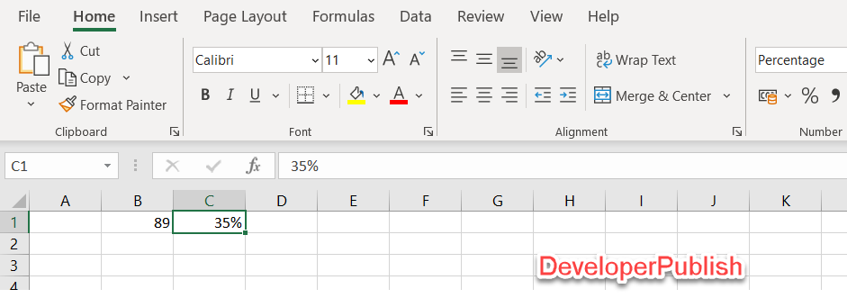 How to Increase a Number by Percentage in Excel?