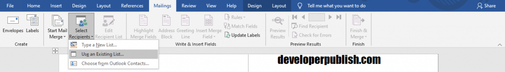 Create labels from Excel using Mail Merge in Word