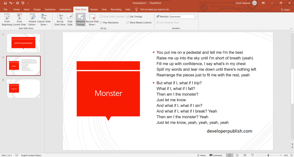 How to Create Self-Running Presentation in PowerPoint?