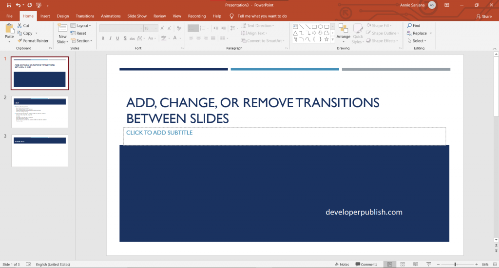 How to Add Transitions in PowerPoint?