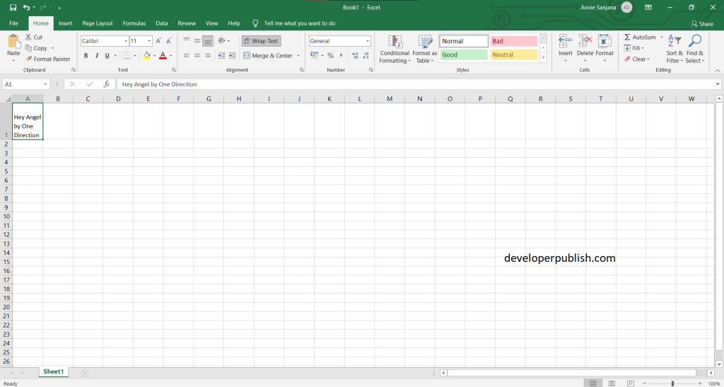 How to Enter multiple lines in a single cell in Excel?