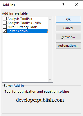 How to Load the Solver Add-in in Excel?