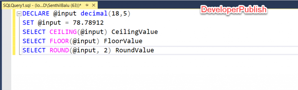 SQL Server 101 - How to Round Up or Round Down a Number ?