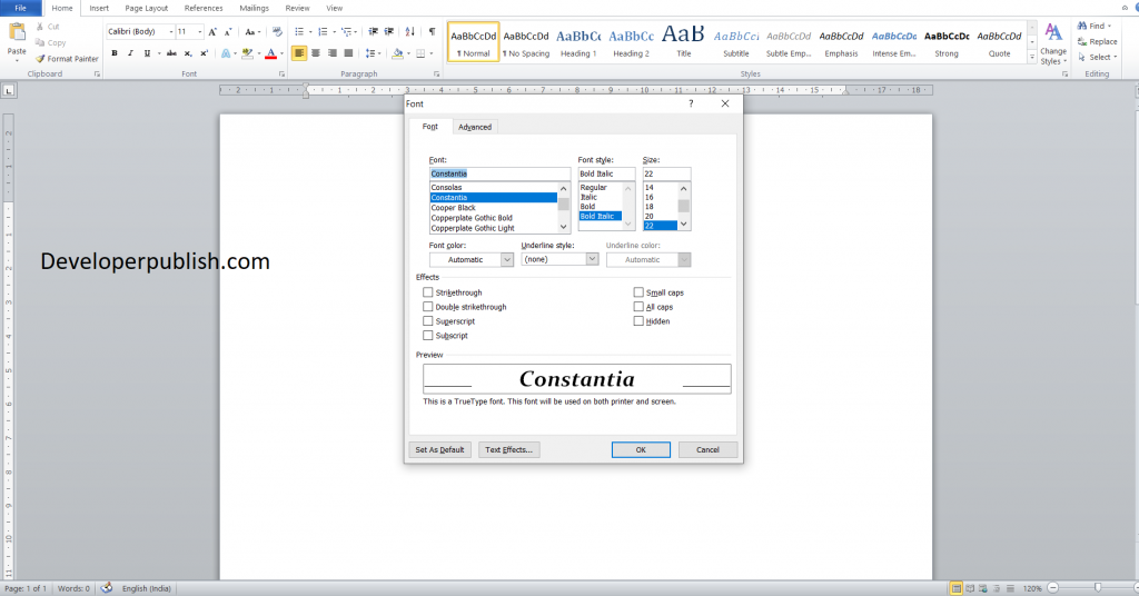 Dialog box launcher in Microsoft Word