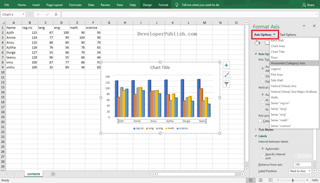 How to Customize Axes in Excel?