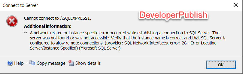 SQL Server Error Msg 53 - An error has occurred while establishing a connection to the server