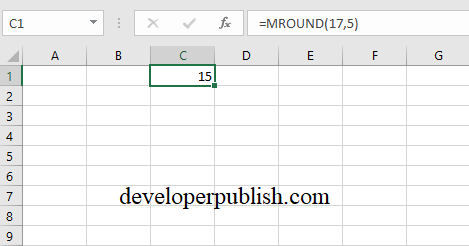 Rounding Functions in Excel