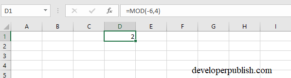 MOD Function in Microsoft Excel