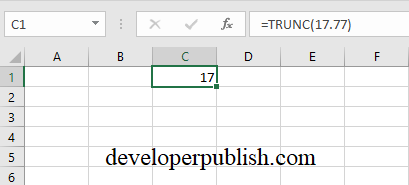 INT and TRUNC Function in Excel