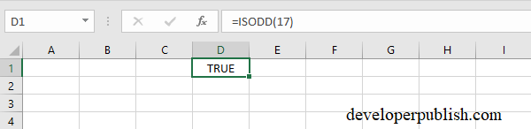 EVEN,ODD,ISEVEN,ISODD Functions in Excel