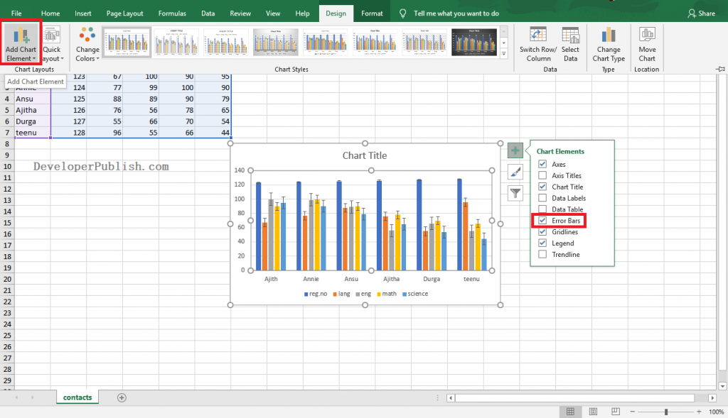 How to Add Error Bars to Chart in Excel?