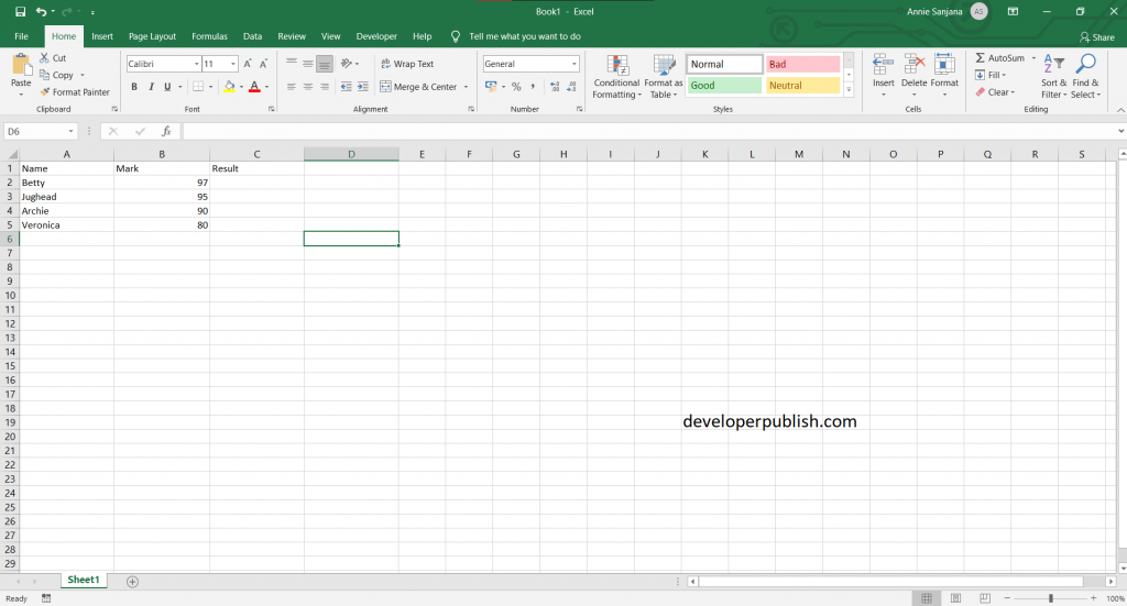 IF Statement in Microsoft Excel