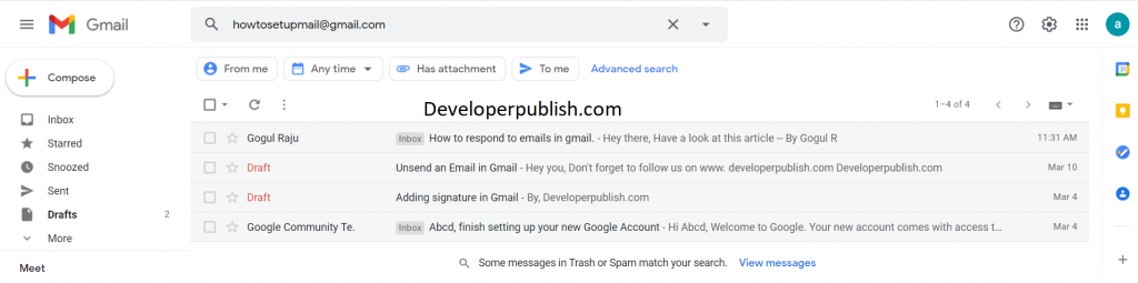 Search mail in Gmail