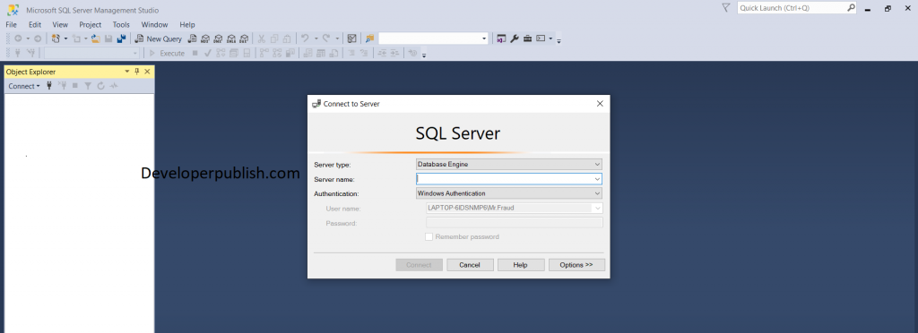 How to access the SQL Management Studio?