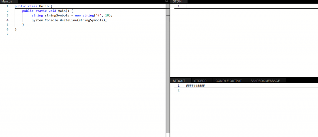 How to Fill String with Repeated Characters in C#?