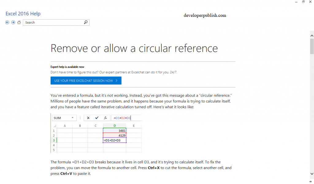 Circular References in Excel