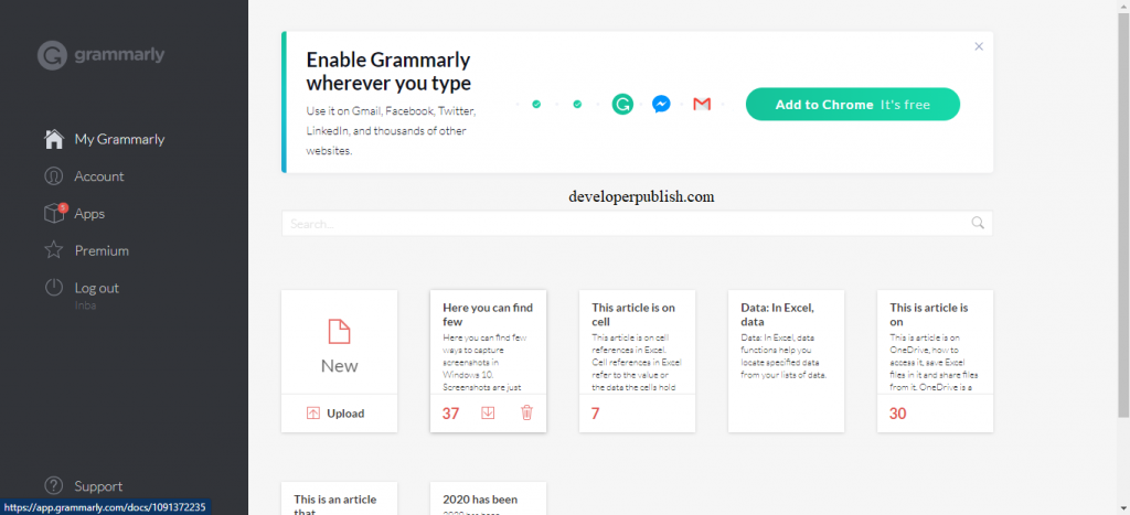 Grammarly free version - Review