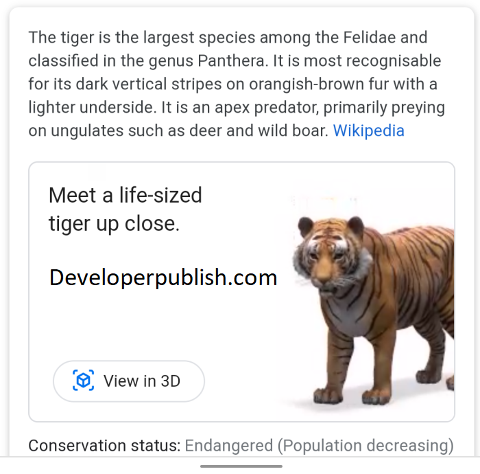 Google 3D Animals - A Detailed Explanation