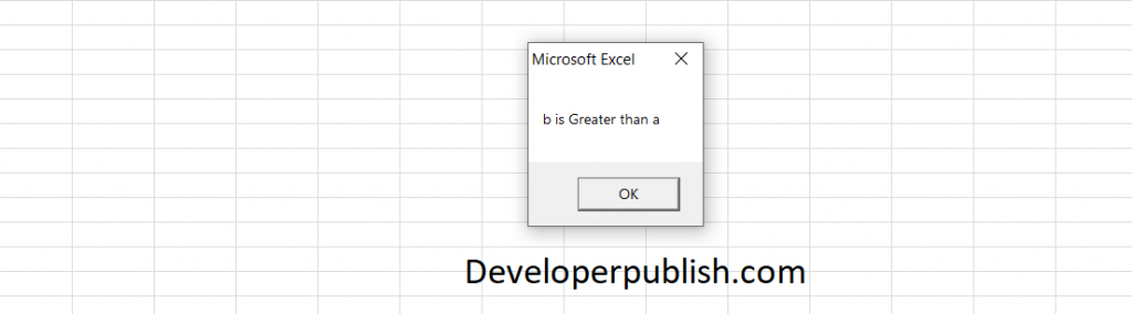Conditional Statements in Excel VBA