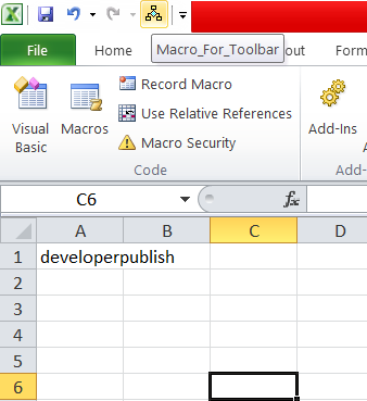 How to Add a Macro to the Toolbar in Excel?