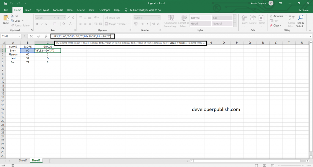 How to use IFS Function in Microsoft Excel Spreadsheet?
