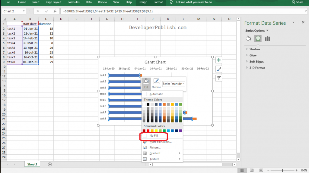How to Make a Gantt Chart in Excel?