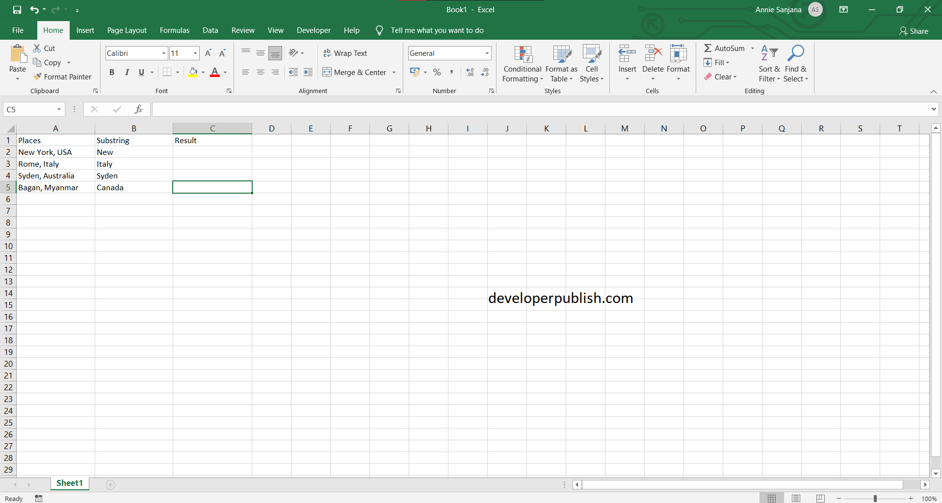 How to Find Cell that Contains Specific Text in Excel