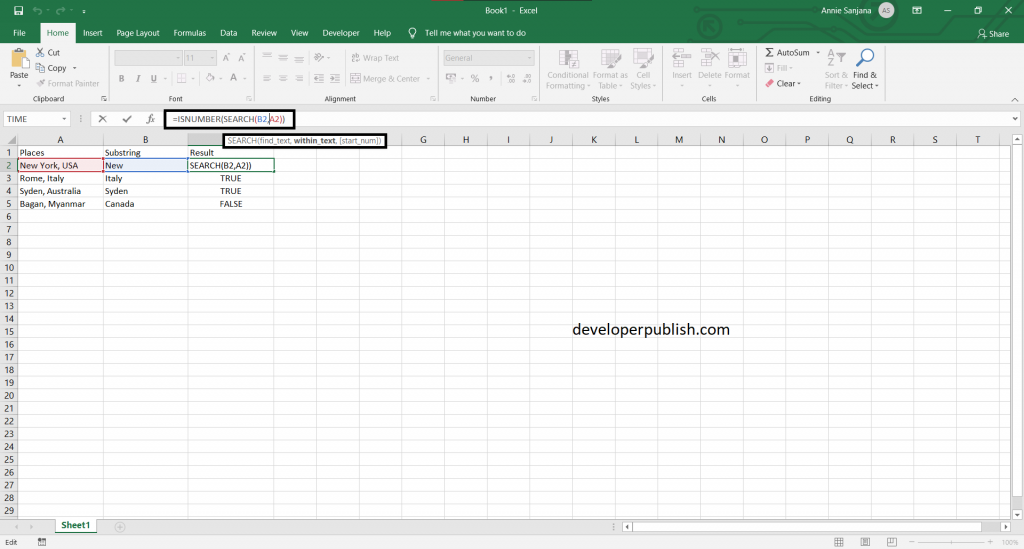 How to Find Cell that Contains Specific Text in Excel?