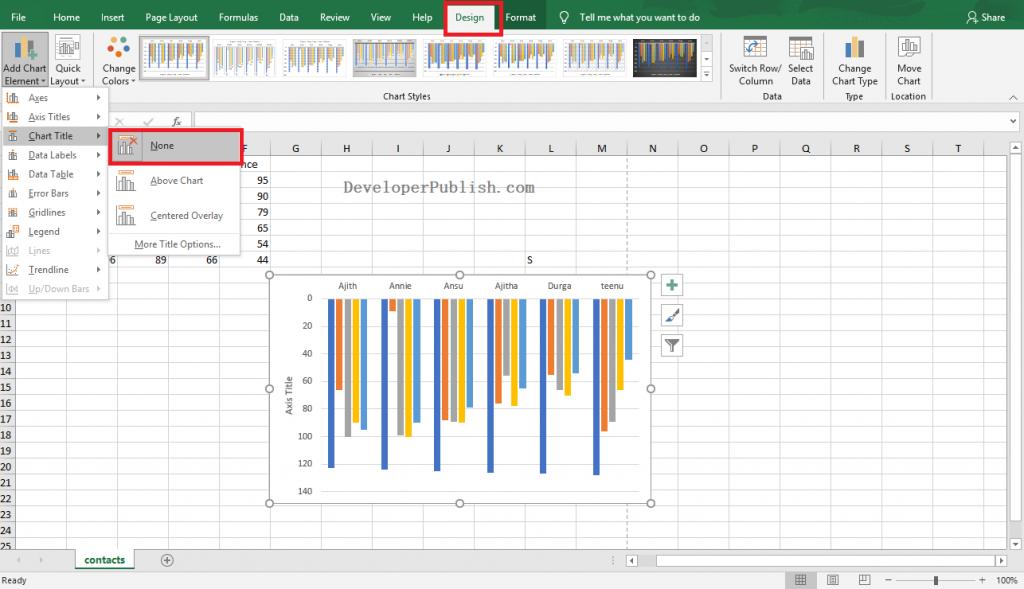 How to Add an X-Axis Title in Excel?