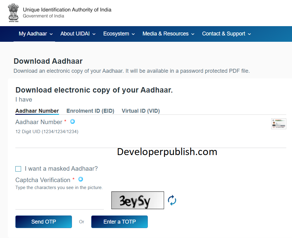 How to Download and Print e-Aadhaar Card Online?
