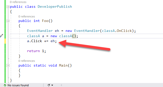 C# Error CS0070 – The event 'event' can only appear on the left hand side of += or -= (except when used from within the type 'type')