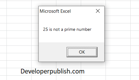 How to Check for Prime Number in Excel VBA?