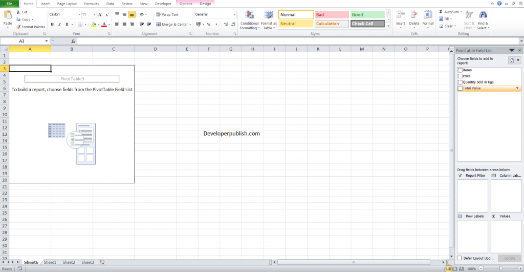 Pivot Table in Excel - A Beginners Guide