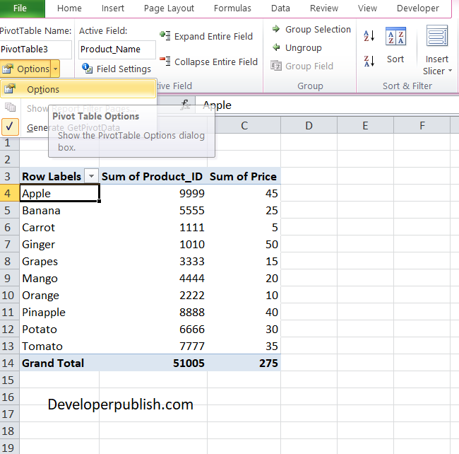 How to Refresh a Pivot Table in Excel?