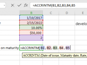 ACCRINTM Function in Excel