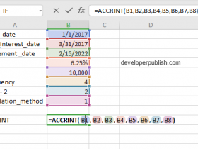 ACCRINT feature in Excel