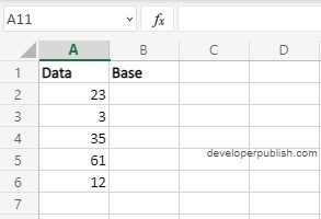 How to use BASE function Excel?