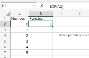 How to use EXP Function in Excel?