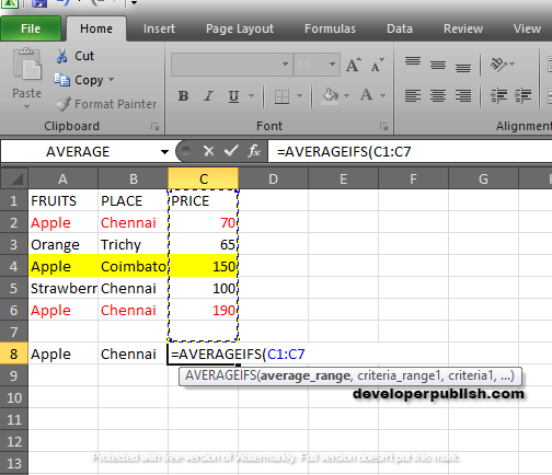 How to use AVERAGEIFS Function in Excel?