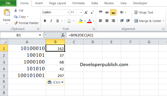 How to use BIN2DEC Function in Excel?