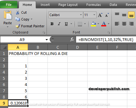 How to use BINOM.DIST function in Excel?