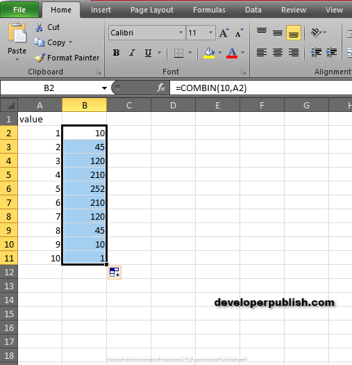 How to use COMBIN Function in Excel spreadsheet?