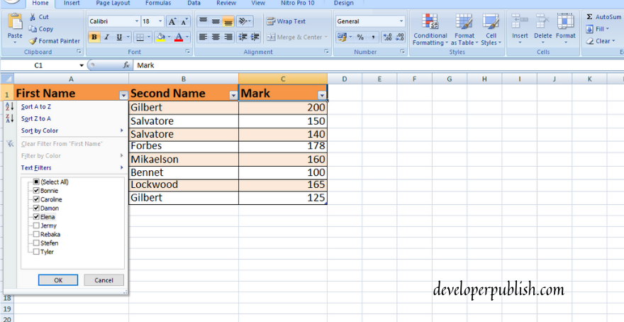 How to use Filters In Excel?