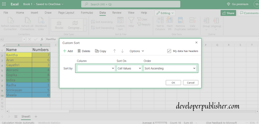 Sort By Color In Excel