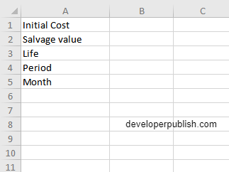 How to use DB function in Excel?