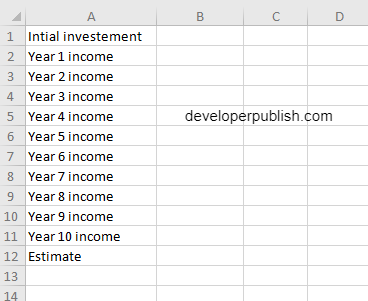 How to use the IRR function in Excel?