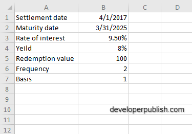 How to use the PRICE function in Excel?
