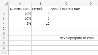 How to use the NOMINAL function in Excel?